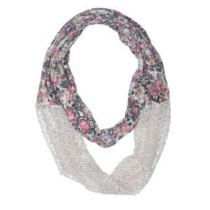 [a9-13] Urban Outfitters floral infinity scarf